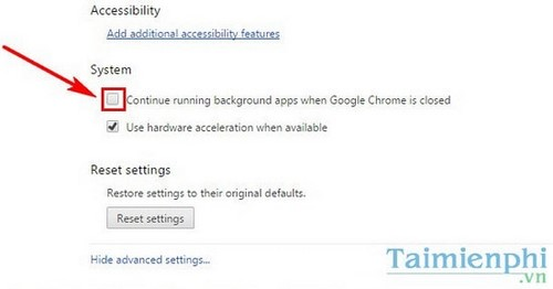 Hướng dẫn tắt chế độ chạy ngầm trên Google Chrome
