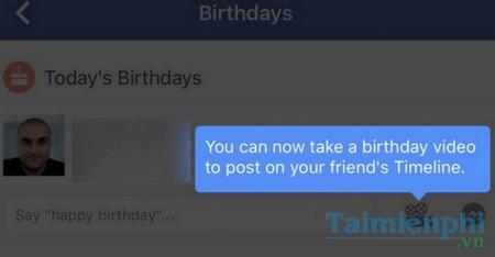 Birthday video cam - Gửi video 15 giây chúc mừng sinh nhật trên Facebook