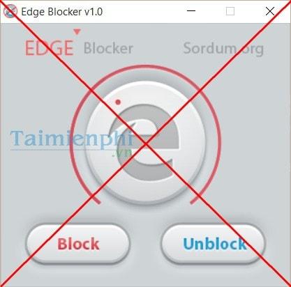 Chặn trình duyệt Edge trong Windows 10