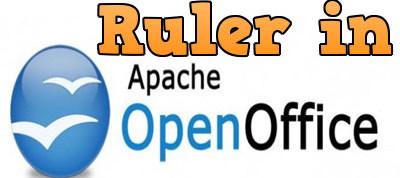 Currently, the ruler is in openoffice