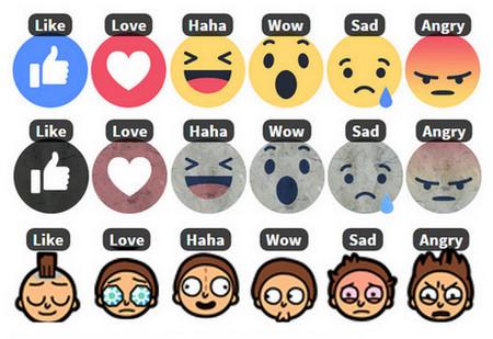 Đổi biểu tượng cảm xúc Love, Haha, Wow, Sad và Angry trên FB