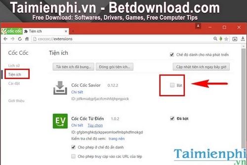 Sửa lỗi Cốc Cốc không hiển thị nút download Savior như thế nào?