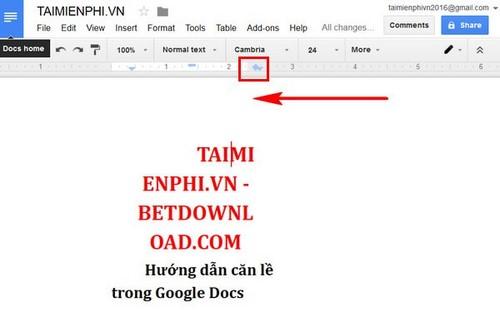 Hướng dẫn căn lề trên Google Docs