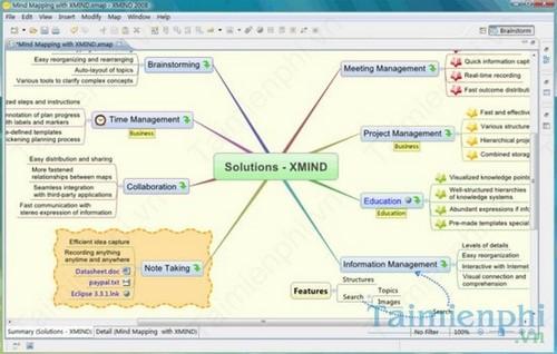 Top phần mềm vẽ sơ đồ tư duy trên máy tính, Laptop, iMindMap, Edraw Mind Map, XMind 3