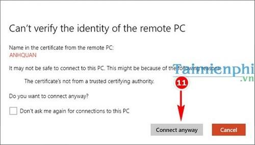 Cách remote Desktop trên Windows 10 8