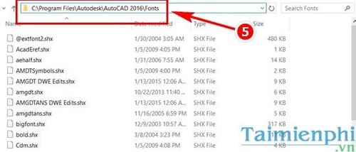 Vietnamese autocad font installed in AutoCAD