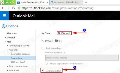 Forward mail trong Hotmail, chuyển tiếp mail của mình sang email khác