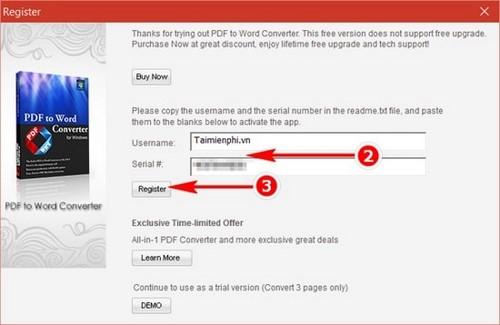 Giveaway) Đăng ký bản quyền Lighten PDF to Word OCR, chuyển đổi PDF s