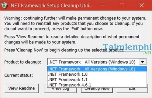 remove the net framework