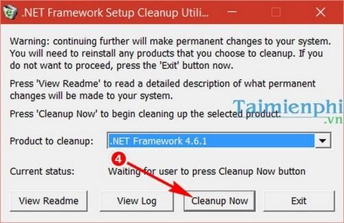 uninstall net framework