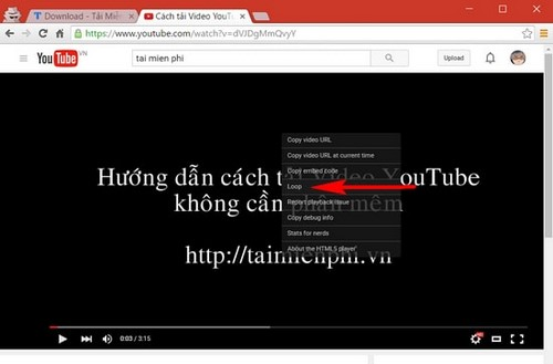 xem lai video tren youtube