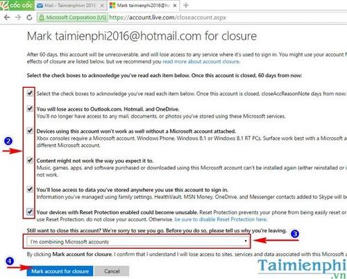 Xóa Hotmail, delete tài khoản Hotmail khỏi Microsoft
