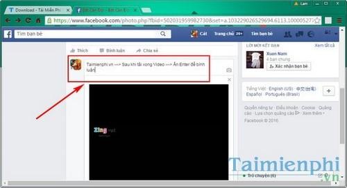 Gửi bình luận bằng video trên Facebook