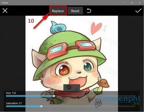 Cách đổi màu mắt bằng PicsArt