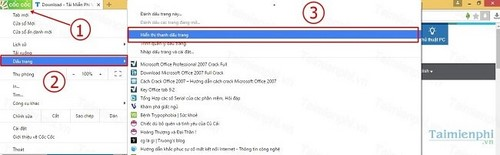 Chuyển bookmark từ Chrome sang Cốc Cốc