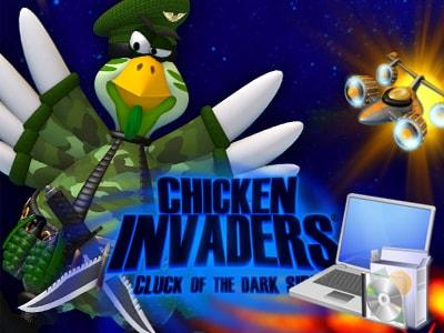 cai game ban ga chicken invaders tren may tinh laptop 0