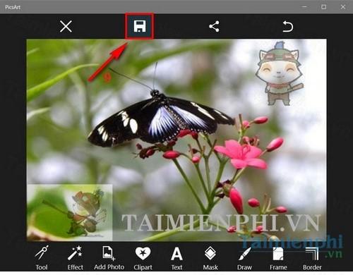 Cách chèn overlays vào ảnh bằng picsart, thêm text, biểu tượng lên ảnh bằng PicsArt