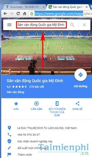 di chuyen ket qua tim kiem tu google map từ PC sang dien thoai