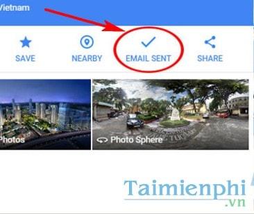 Di chuyển kết quả tìm kiếm Google Maps từ PC sang điện thoại