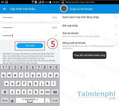 Đổi mật khẩu Zalo trên điện thoại Android, iPhone, Windows Phone