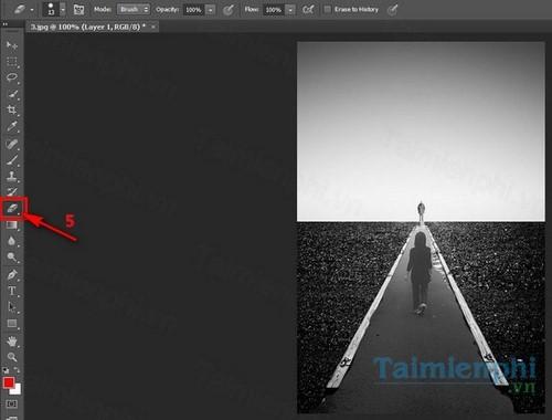 Ghép 2 ảnh vào nhau trong Photoshop CS6