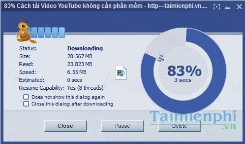 Kéo thả để download trên Ant Download Manager