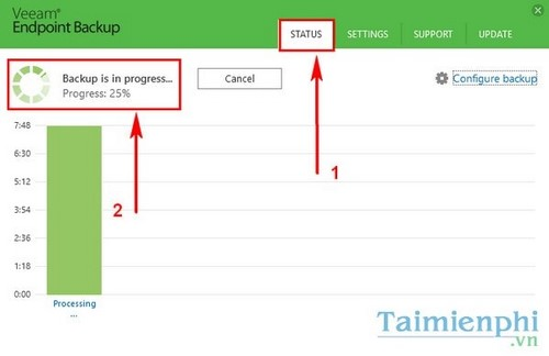sao luu du lieu bang Veeam Endpoint Backup