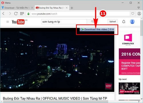 Tải video trên Opera bằng IDM