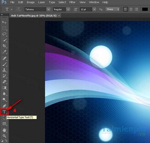 Viết chữ lên ảnh trong Photoshop CS6