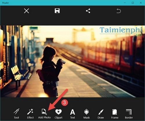 Cách lồng ảnh, ghép ảnh trong PicsArt