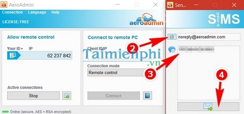 giveaway aero admin is not connected with remote computer