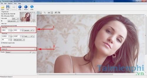 Mẹo phóng to ảnh không làm giảm chất lượng bằng PhotoZoom Classic