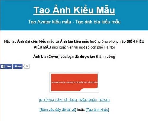 Tạo Avatar, ảnh đại diện Facebook, thiết kế ảnh bìa kiểu mẫu trên Facebook