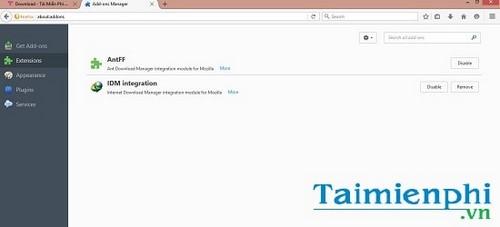 huong dan cai idm cc cho trinh duyet Firefox 47