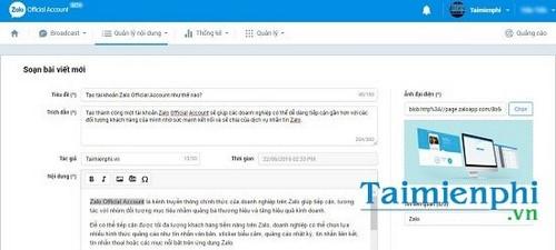 Cách đăng bài trên Zalo Page 4