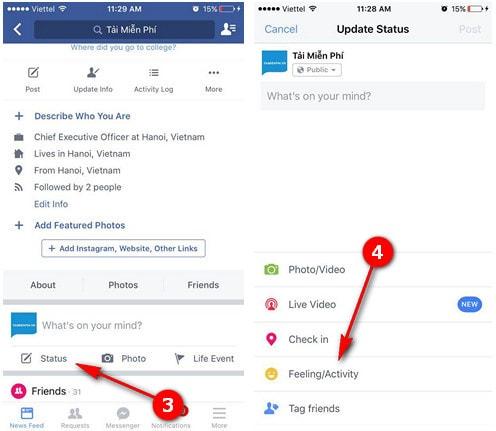 Đăng status Facebook bằng sticker, viết trạng thái bằng sticker