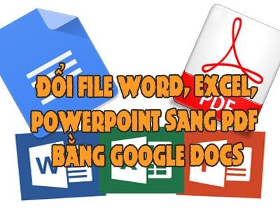 chuyen office sang pdf bang google docs