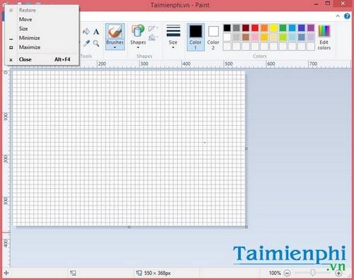 Tổng hợp phím tắt trên công cụ Paint