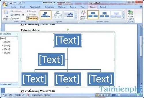 cach ve so do trong phan mem word 2010