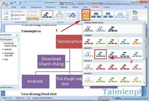 cach ve so do tren word 2010