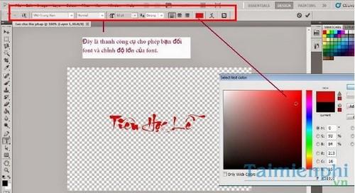 Viết chữ thư pháp trong Photoshop, chèn chữ thư pháp lên ảnh bằng Photoshop