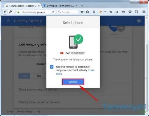 xac minh 2 buoc tren gmail voi google prompt
