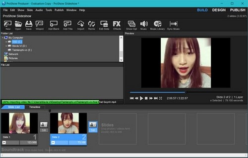 Chèn video vào Proshow producer, thêm video trong Proshow Producer 6