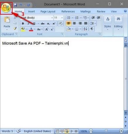 luu file pdf trong word 2007