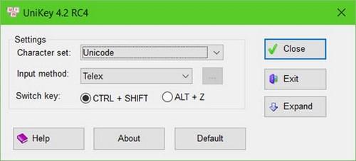 Tổng hợp phím tắt Unikey trên máy tính