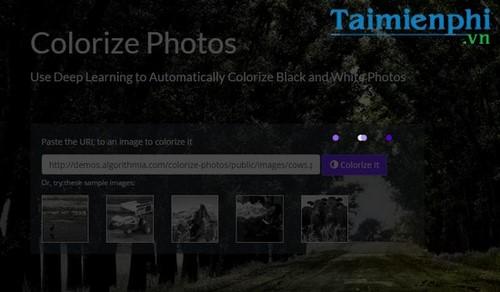 Cách chuyển ảnh đen trắng sang màu trực tuyến