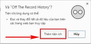 Cách lưu lịch sử tạm thời khi duyệt web ẩn danh