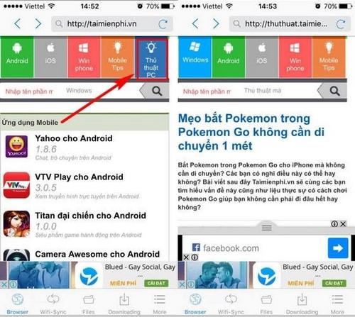 Cài Cốc Cốc cho iPhone, duyệt web trên iPhone bằng CocCoc