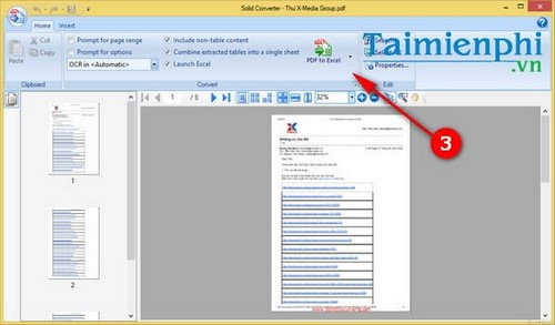 Convert pdf to excel by converting pdf files to xls