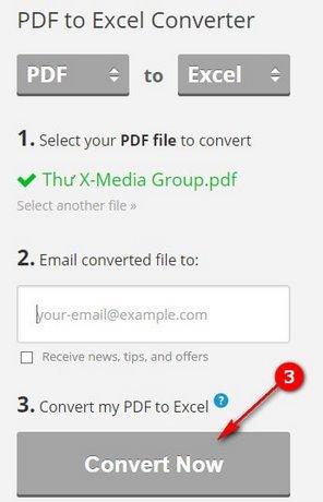 huong dan chuyen pdf sang excel doi file pdf sang xls
